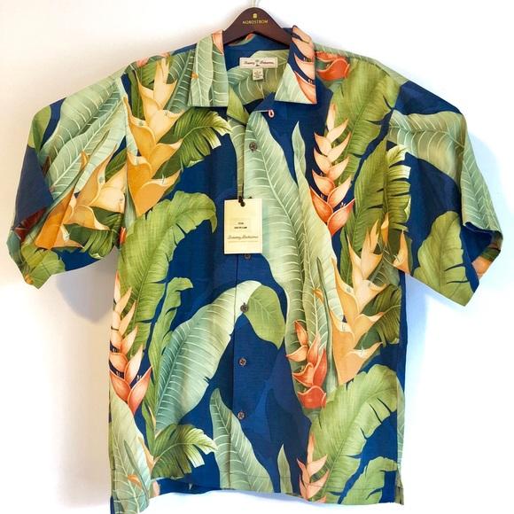 bf9c226aa Tommy Bahama Shirts | 75 Nwt Kauai 50 Camp Shirt Silk | Poshmark